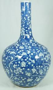 Blue And White Vases Antique Antique Chinese Blue U0026 White Cherry Blossoms Vase