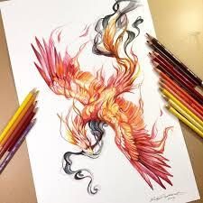 phoenix watercolor design by lucky978 on deviantart creature