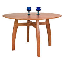 handmade vermont modern pedestal table round solid wood table