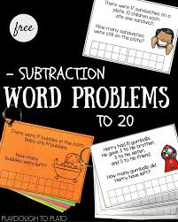 subtraction word problems to 20 subtraction activities word
