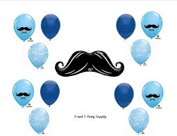 amazon com little man mustache baby shower balloons decorations