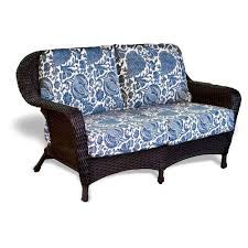 cape wicker port royal settee replacement cushions for
