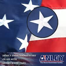 Stars On Chicago Flag Amazon Com Anley Heavy Duty American Us Flag 4x6 Foot Nylon
