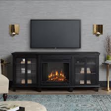 home decor best black electric fireplace entertainment center