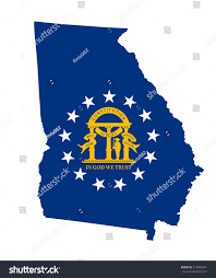Georgia State Map by Georgia State Vector Map Flag Coat Stock Vector 317042501