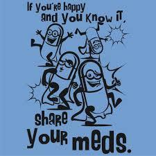 share your meds happy pill t shirt viagra prozac cialis xanax