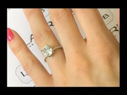 thin band engagement ring 2 50 carat cushion diamond engagement ring in thin delicate band