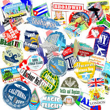 California travel stickers images Travel stickers royalty free stock image image 34012956 jpg