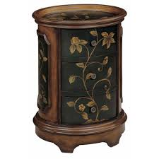 tray top end table a stunning oval accent table this piece is finished on all sides