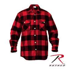 Flannel Shirts Rothco Heavyweight Buffalo Plaid Flannel Shirts