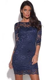 blue lace dress navy blue lace dress with 3 4 sleeves by vestry online ustrendy