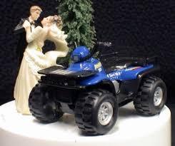 car wedding cake toppers atv road 4 wheeler outdoor sports wedding cake topper