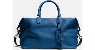 pebble black friday coach explorer bag in pebble leather in blue for men lyst