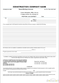 Construction Estimate Template Free by Construction Proposal Template Cyberuse