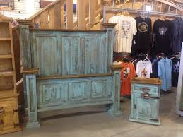 Western Style Furniture Turquoise Wash Rustic Bedroom Furniture Http Www