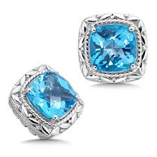 topaz earrings shop by designer colore sg blue topaz earrings in sterling silver