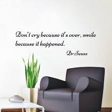 compare prices on famous saying quotes online shopping buy low famous people saying don t cry because it s over wall sticker quote vinyl removable home