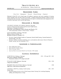 Nursing Student Sample Resume by Cv Writing For Student Nurses