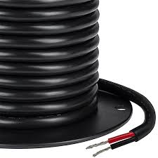 black jacketed 14 gauge wire two conductor power wire power
