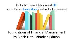 practice test bank for foundations of financial management by