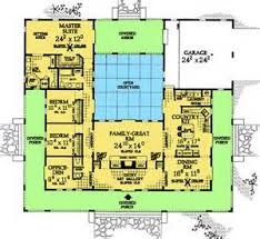 U Shaped House Plans With Pool In Middle Pool House Plans With Courtyard U003e Gallery For U003e Mediterranean