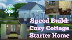 Starter Homes by The Sims 4 Speed Build Cozy Cottage Starter Home Youtube