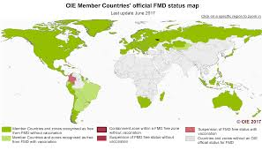Where Is Germany On The World Map by En Fmd Carte Oie World Organisation For Animal Health