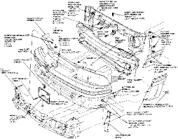 1993 ford mustang parts 1993 gt radiator support removal anyone a parts diagram