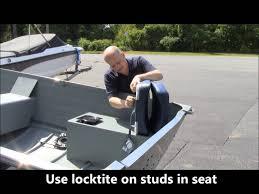 diy installing fishing seats on your row jon or utility fishing