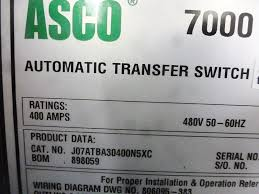 used asco 400a series 7000 automatic transfer switch 4785