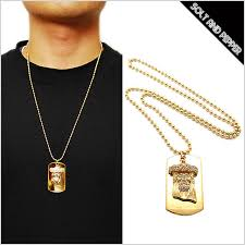 tag chain necklace images Majestic looking mens dog tag necklace solt and pepper rakuten jpg