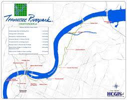 map of chattanooga tn tn riverwalk map