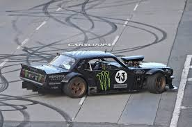 mustang 4 wheel drive ken block spied hooning a ford mustang for gymkhana 7