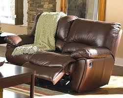 clifford brown leather double reclining love seat co600282