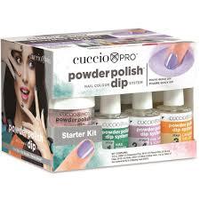 cuccio starter kit powder polish nail colour dipping system 5530