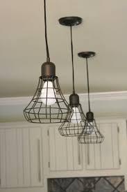 kitchen lighting industrial light fixtures drum copper rustic
