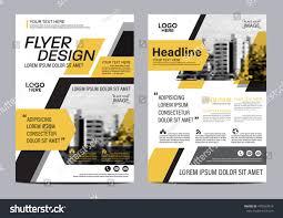 yellow flat modern brochure layout design stock vector 478353418