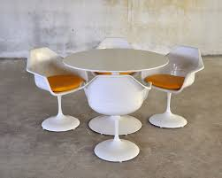 Expandable Table Select Modern Tulip Dining Set With Expandable Table And Four Chairs