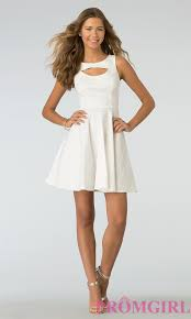8th grade dresses for graduation sleeveless fit and flare open back dress promgirl
