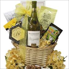 Gift Baskets With Wine Chardonnay Wine Gift Basket