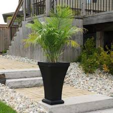 Tall Plastic Planters by Self Watering Plastic Planters Pots U0026 Planters The Home Depot