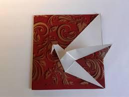 the origami crane card открытка журавлик