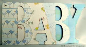 finished baby boy word album letters part of the scrapbooking in