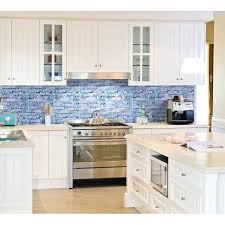 tile kitchen ideas mosaic kitchen backsplash blue glass mosaic wall tiles gray