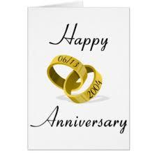 happy 5th wedding anniversary cards invitations zazzle co uk