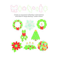 sweet sugarbelle holiday platter cookie cutter set