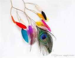hippie hair accessories 2017 bohemia style women peacock feather headband hippie