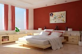shabby orange accents wall paint color for apartment bedroom with bedroom shabby orange accents wall paint color for apartment bedroom with splendid wood platform bed