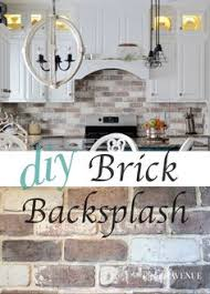tiling a kitchen backsplash do it yourself love brick backsplash in the kitchen easy diy install with our