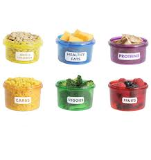portion control containers meal food prep storage kit 7 piece